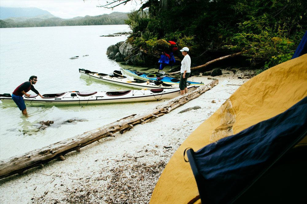 Kayaks On Beach - Great Bear Rainforest