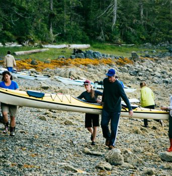 Carying Kayaks - Great Bear Rainforest