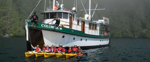 great bear rainforest mothership kayaking Columbia III