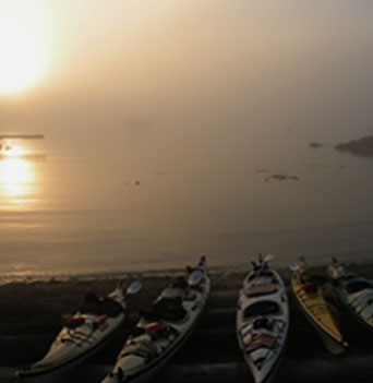 Nuchatlitz Seascape with Kayaks