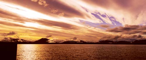 patagonia dramatic sunset mountains