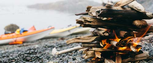 Great Bear Rainforest beach campfire