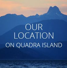 Located in BC on Quadra Island