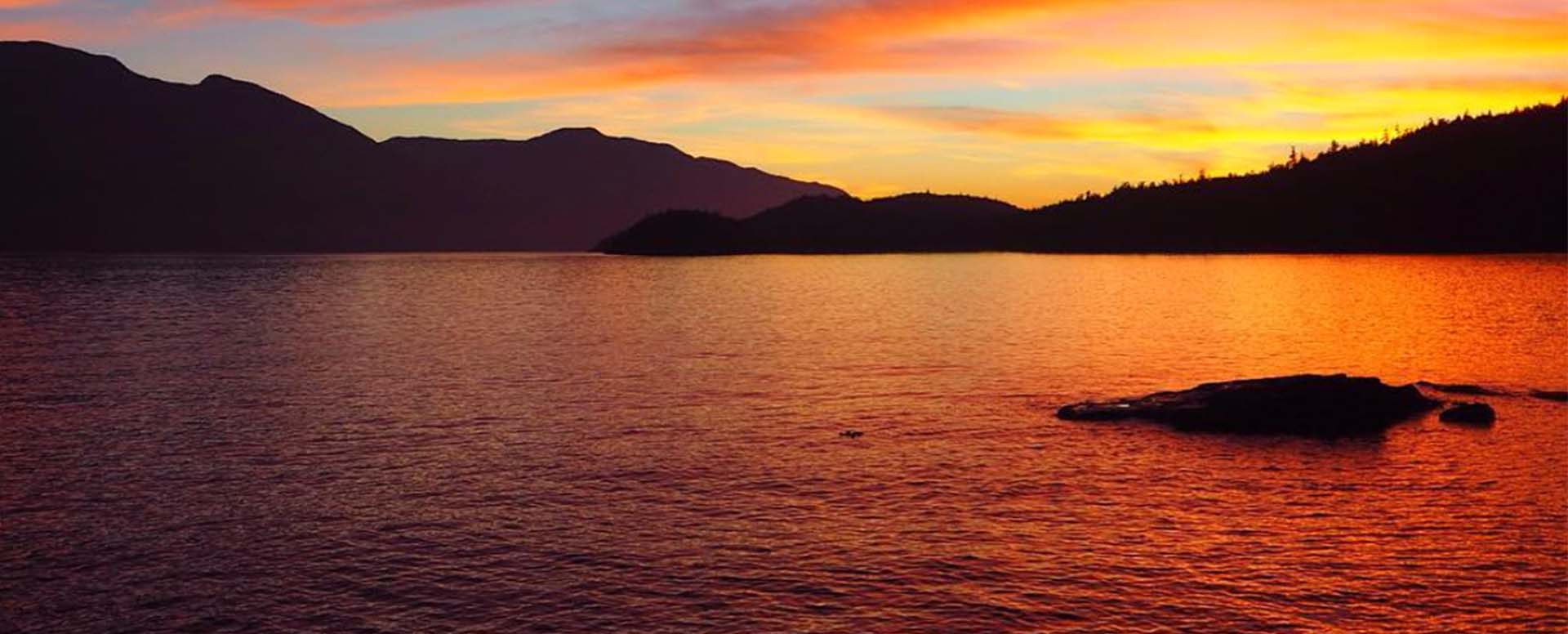 Stunning sunset Johnstone Strait