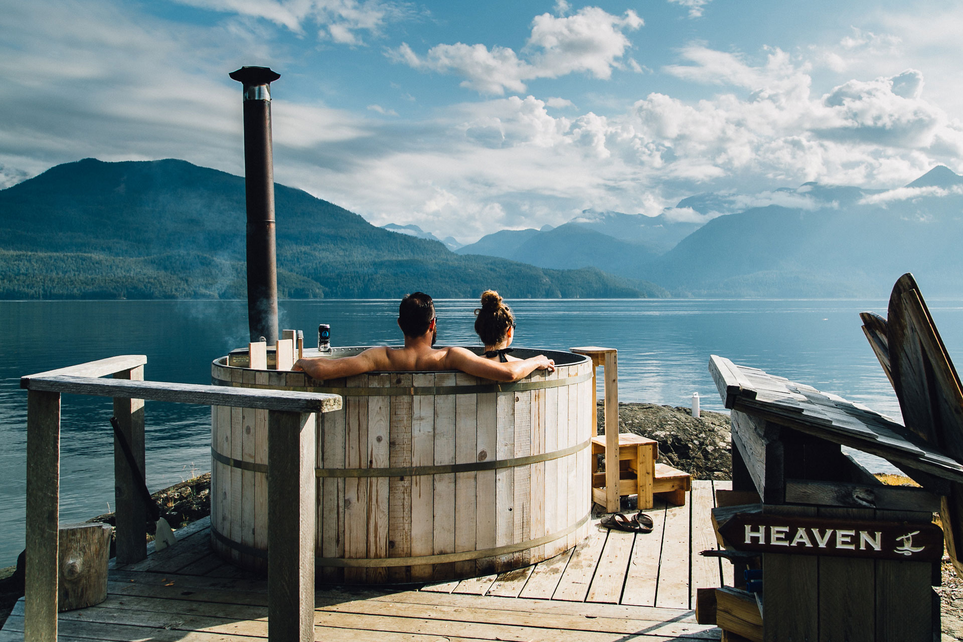 relax in a hot tub overlooking the ocean, restore and recharge with regenerative travel