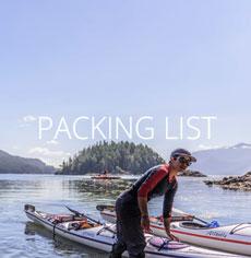 Packing for kayaking