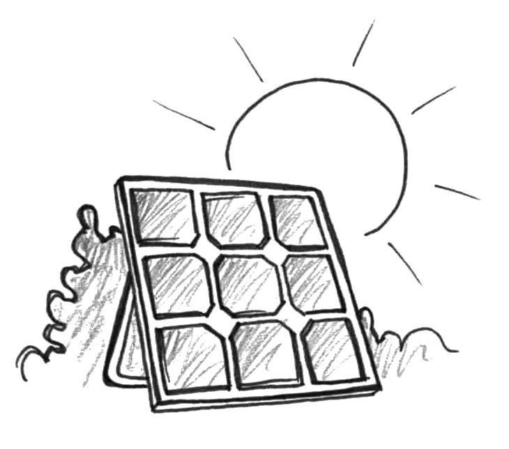 Electricity by solar panels